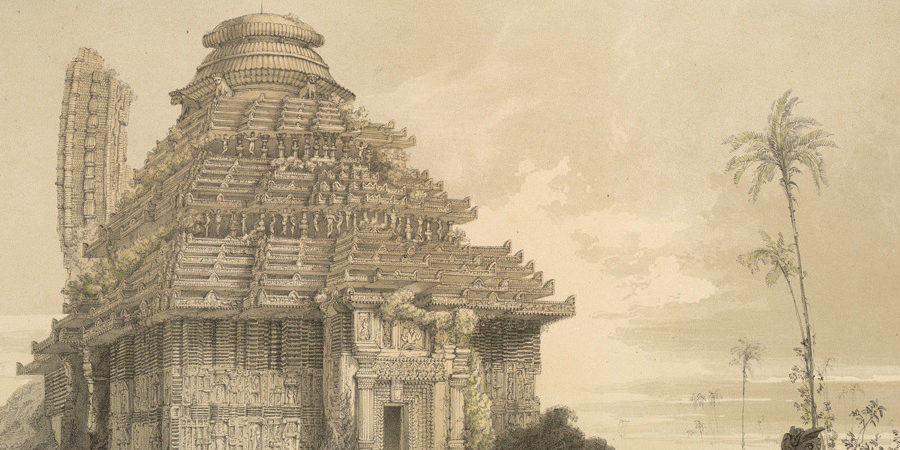 """Temple of Kanarug,"" by James Fergusson, 1847"