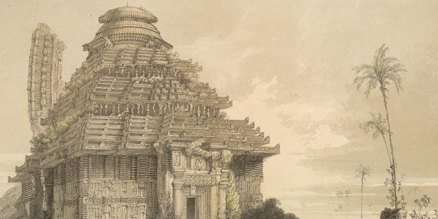 """Temple of Kanarug,"" by James Fergusson, 1847"